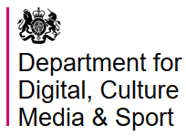 logo for department for digital, culture, media and sport